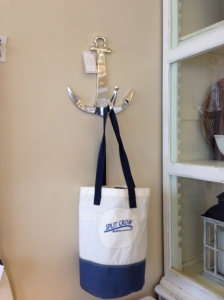 The Split Crow Sail Bag visiting Muskoka Living Interiors